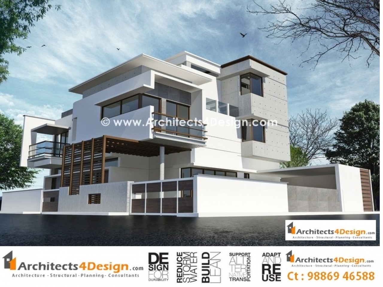 Residential house elevation plans house elevation drawings for Residential house plans and elevations