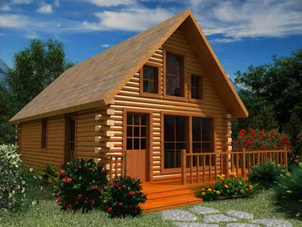 Rustic log cabin wood floors small log cabin floor plans for Wood cabin plans