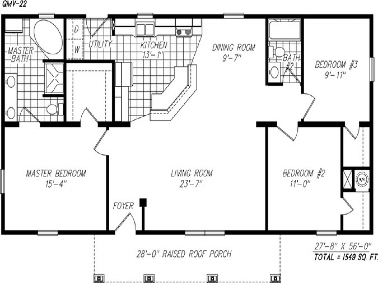 Simple one story floor plans single story open floor plans for Simple one level house plans