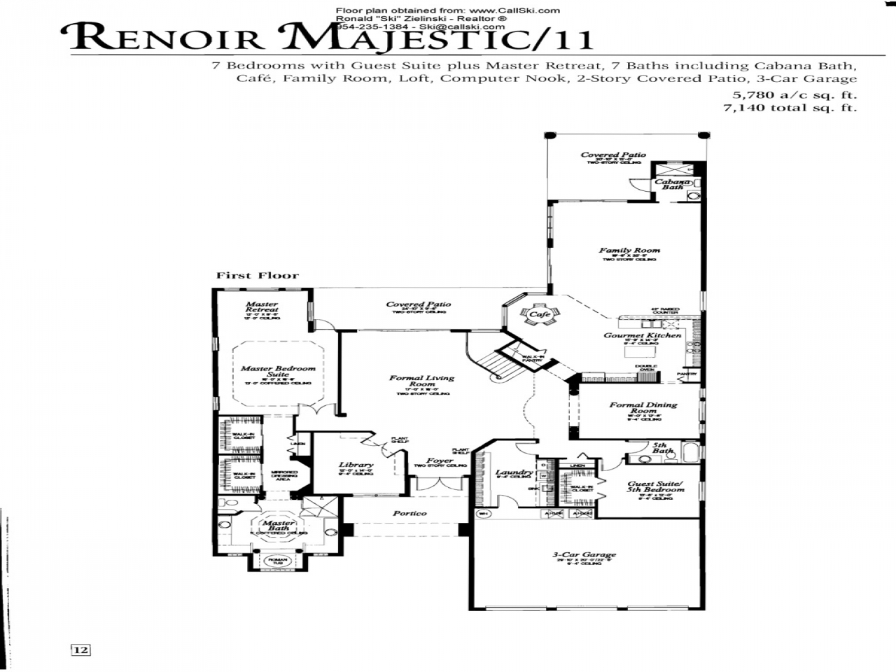 Single Story Open Floor Plans Majestic Floor Plans For The