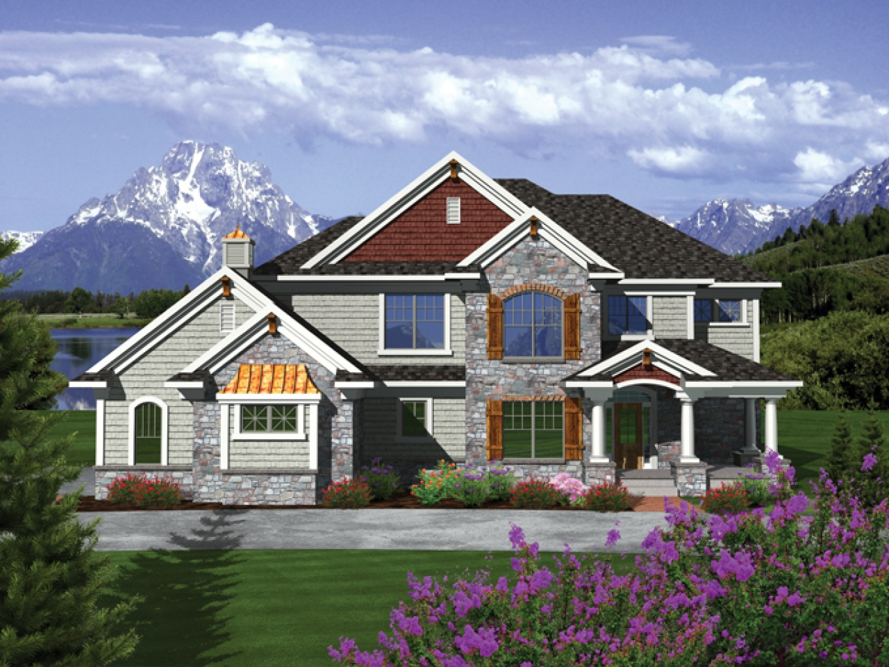 Two story craftsman style homes exterior colors 2 story for 2 story craftsman house