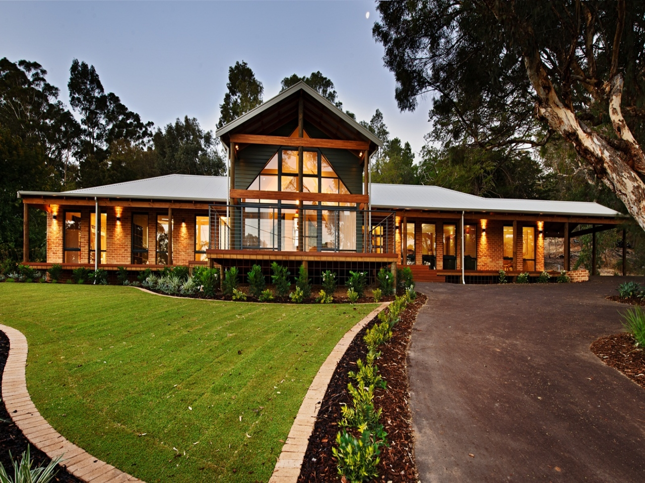 Australian country house designs skillion roof house for Beach house designs victoria