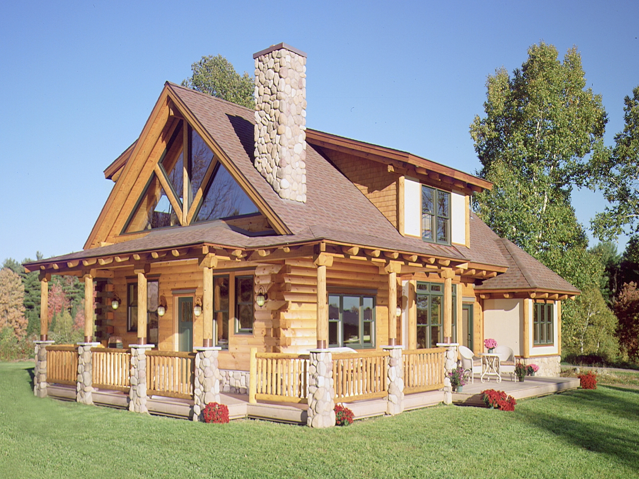 Best log home exterior stain log home finishes exterior for Exterior house finishes