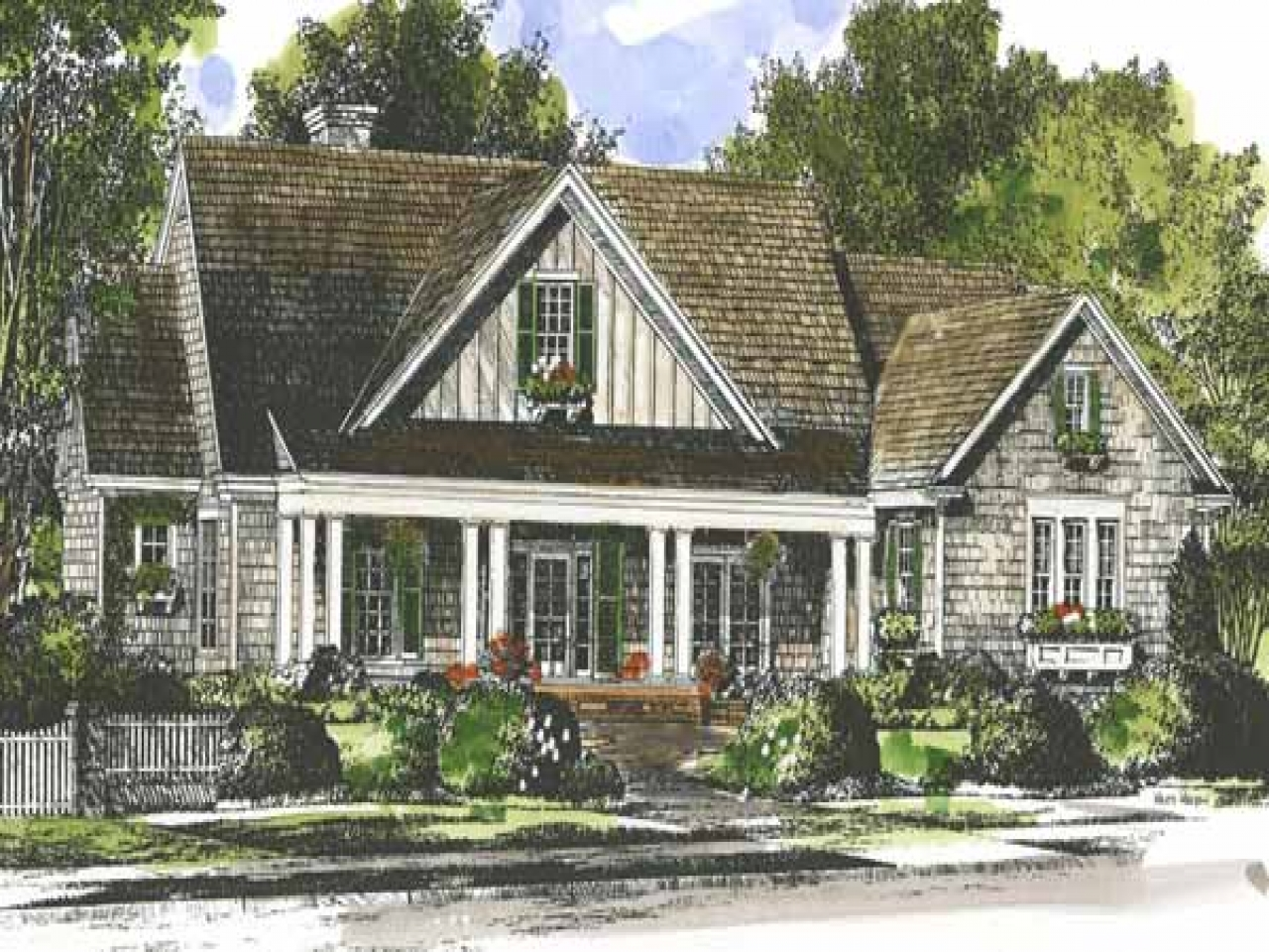 French country house plans country house plans southern for Country living house plans