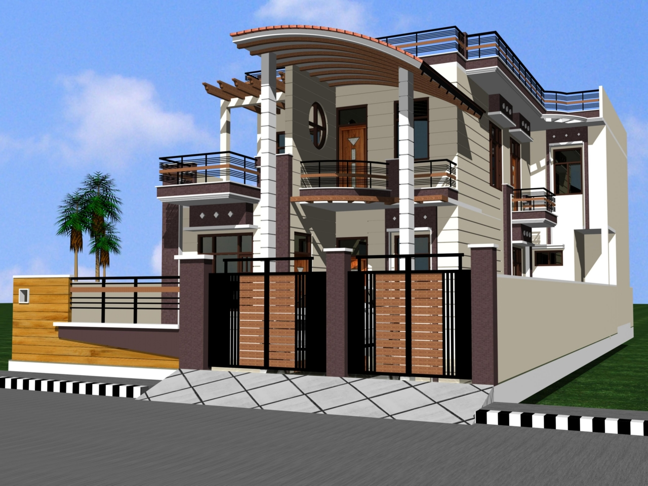 Beautiful Front Elevation Of Kerala Houses : Front elevation indian house designs kerala plans