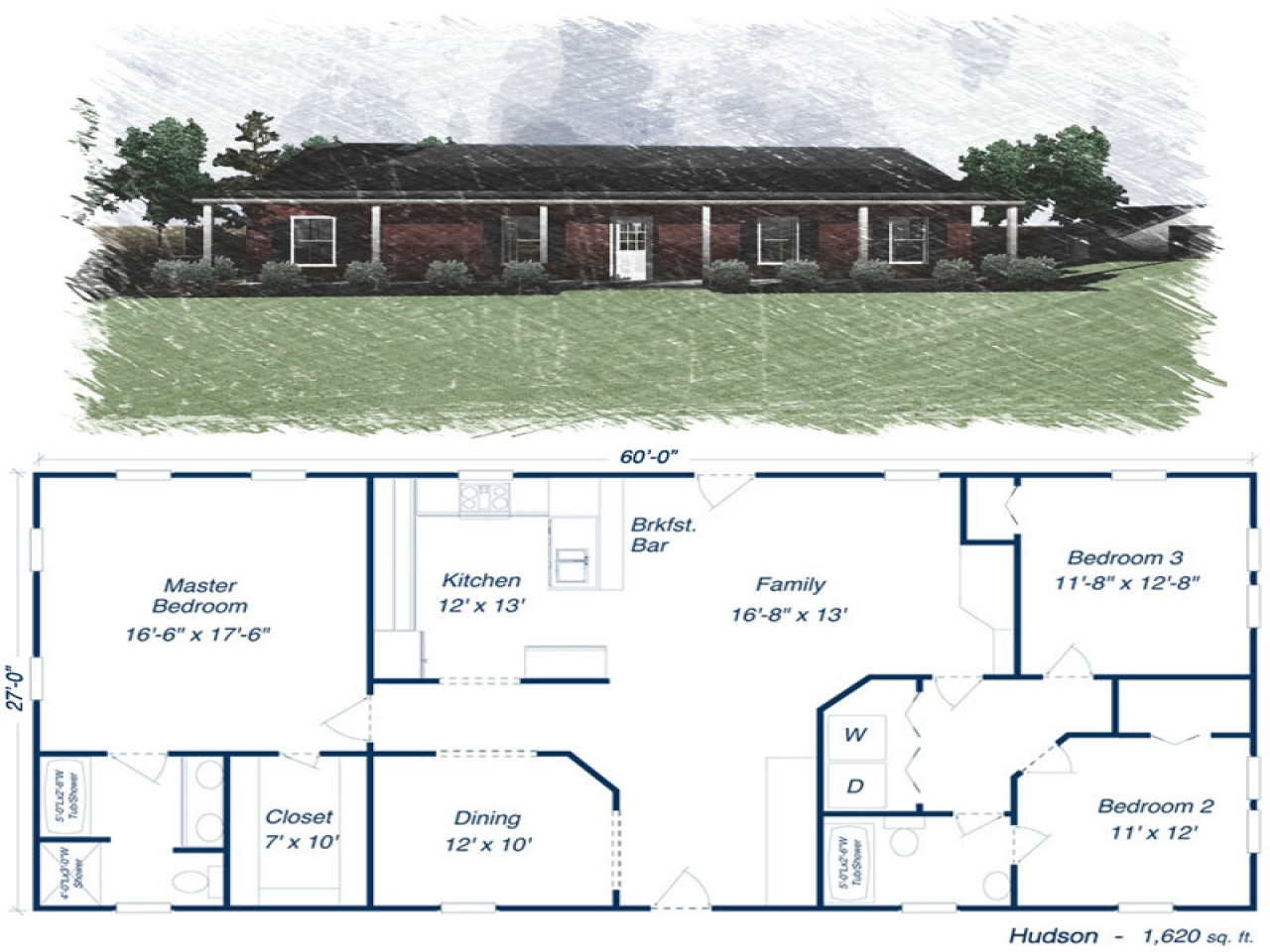 Metal building homes house plans residential metal for Metal building residential floor plans