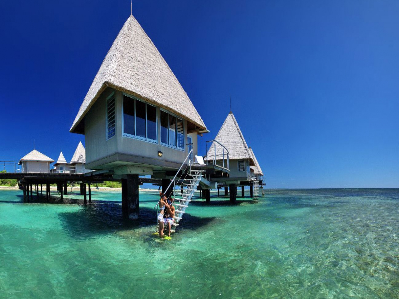 Overwater Bungalow Moorea Pearl Resort Best Tahiti Resorts