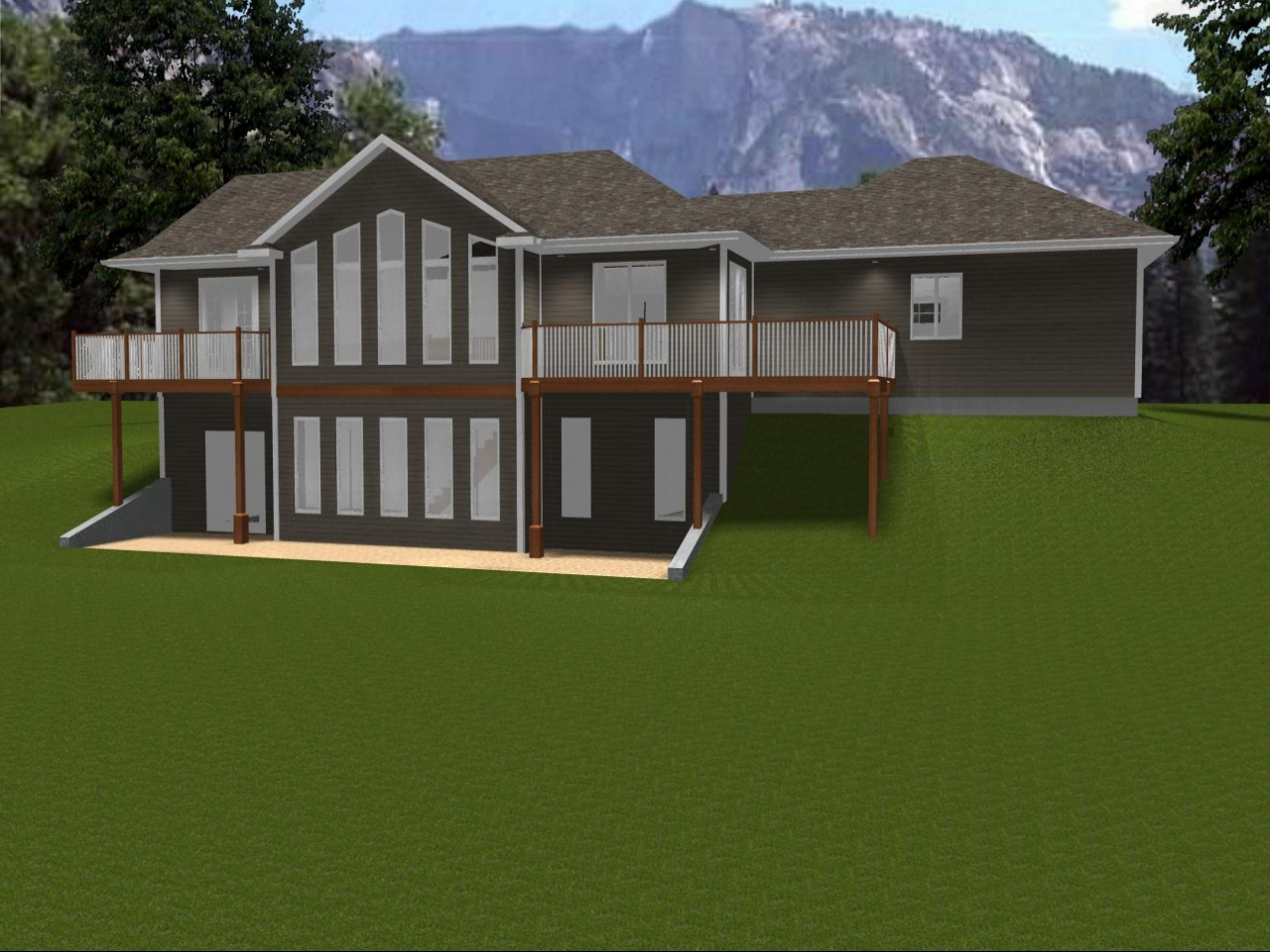 Ranch house plans with walkout basement ranch house plans for Bungalow house plans with basement and garage