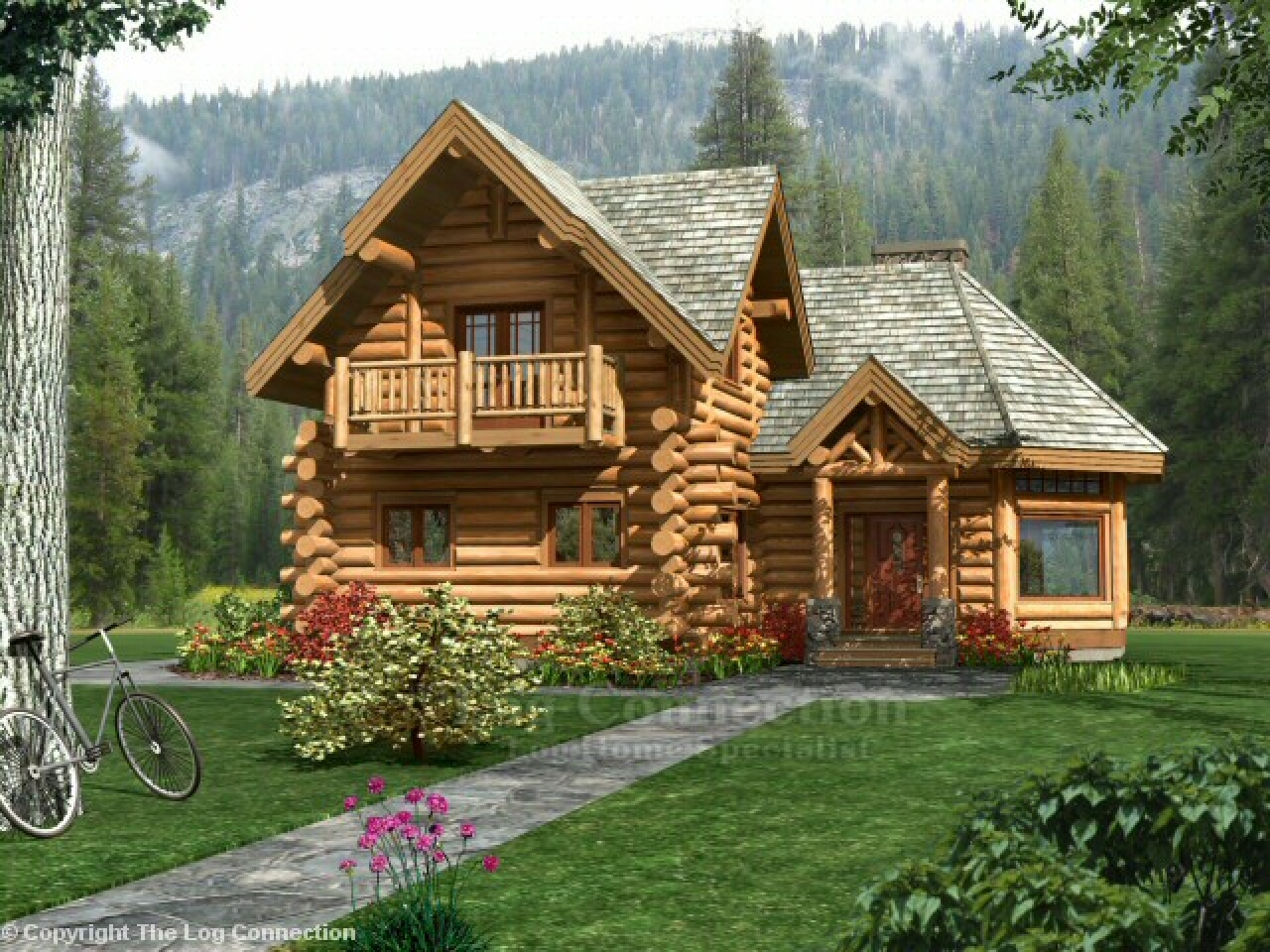 Rustic log cabin plans log cabin home plans and prices for Rustic log home kits