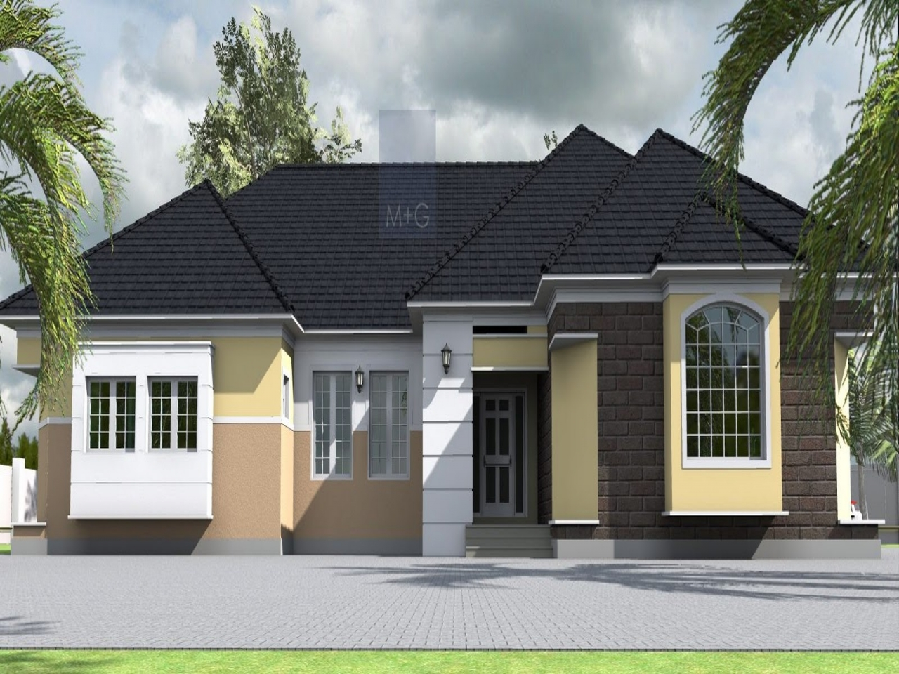 4 Bedroom House Layout Plan 4 Bedroom Bungalow in Nigeria ...