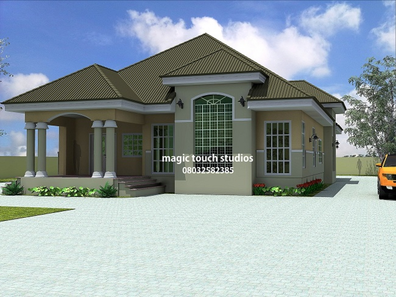 5 Bedroom Bungalow Floor Plan 5 Bedroom Bungalow House ...