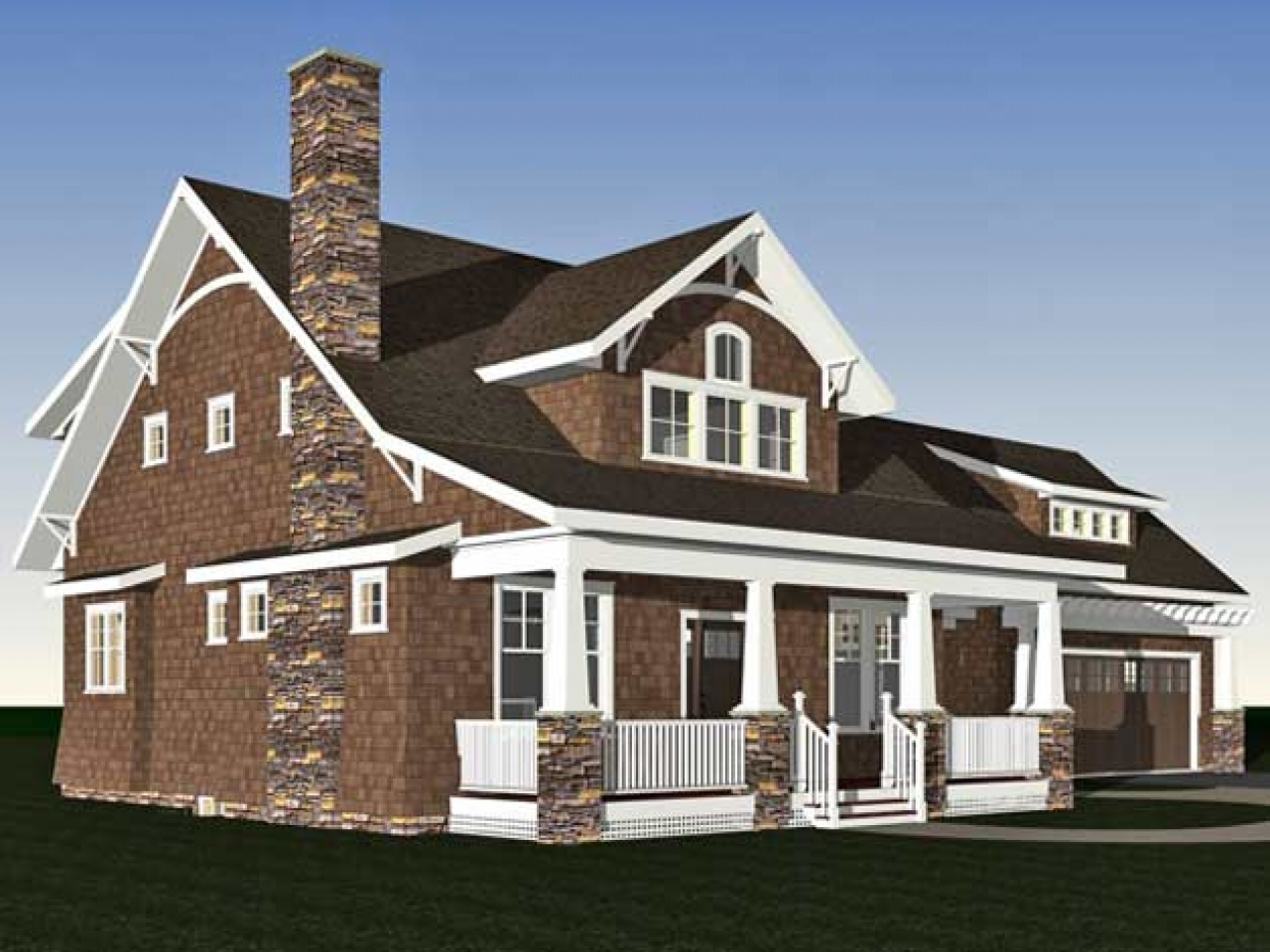 Arts and crafts bungalow home plans arts and crafts for Arts and crafts style home plans