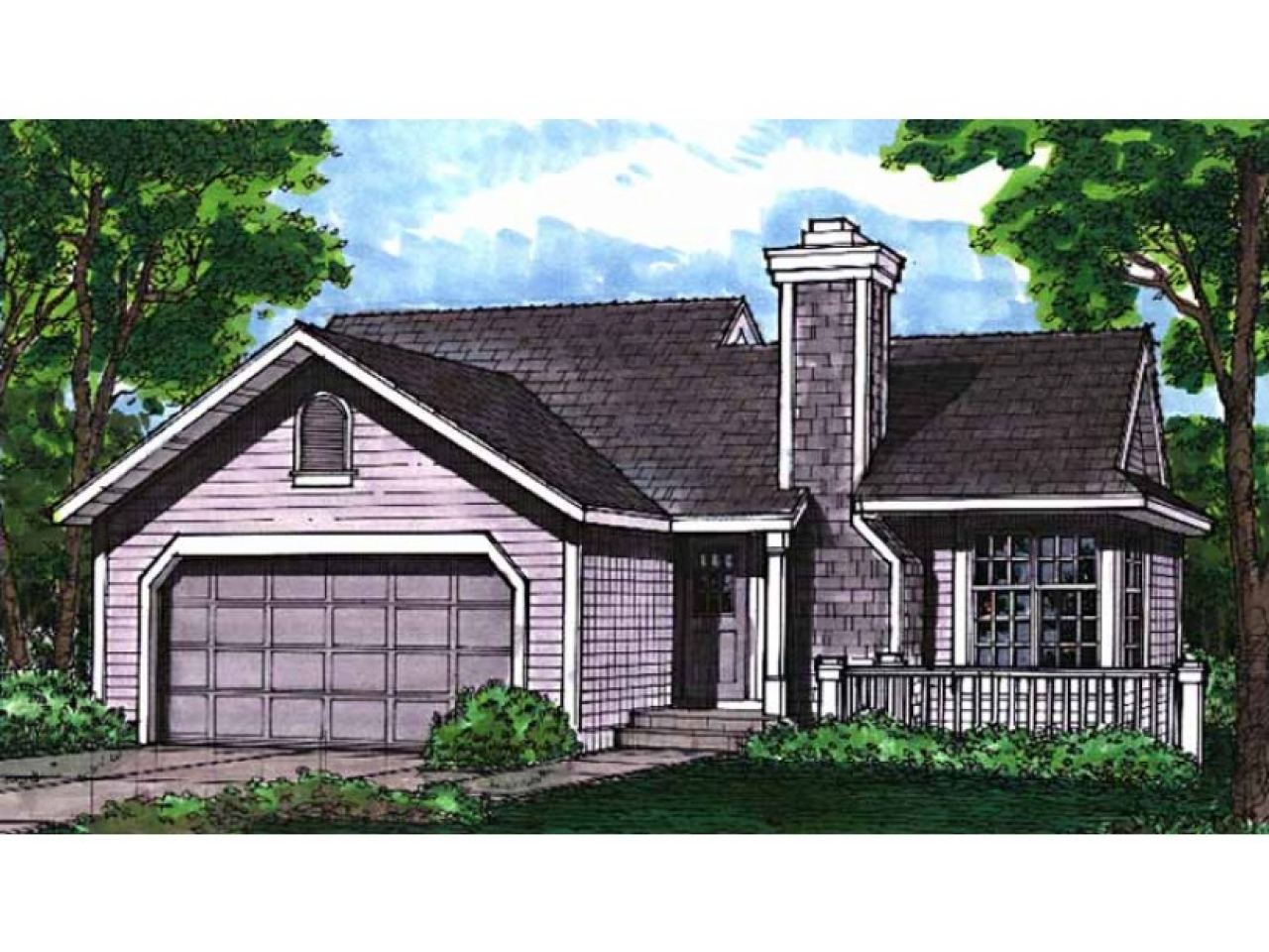 Eplans cottage house plan two bedroom cottage 988 square for Eplans house plans
