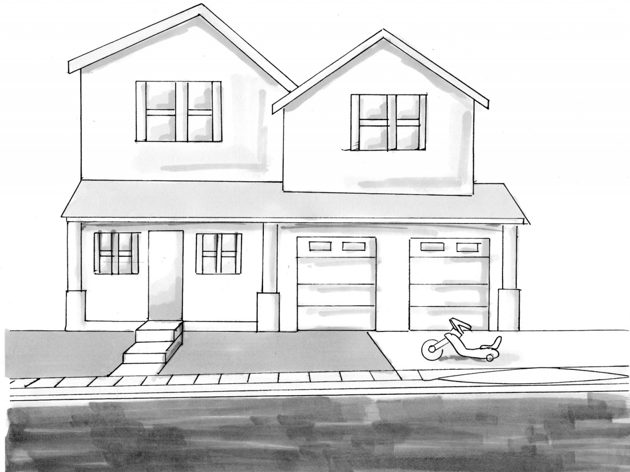 House Sketch Drawing Sketches, house drawings - Treesranch.com