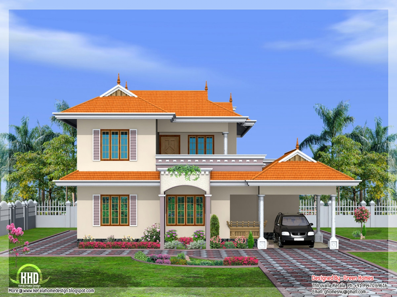 Indian Style House Design Bungalow House Design in ...