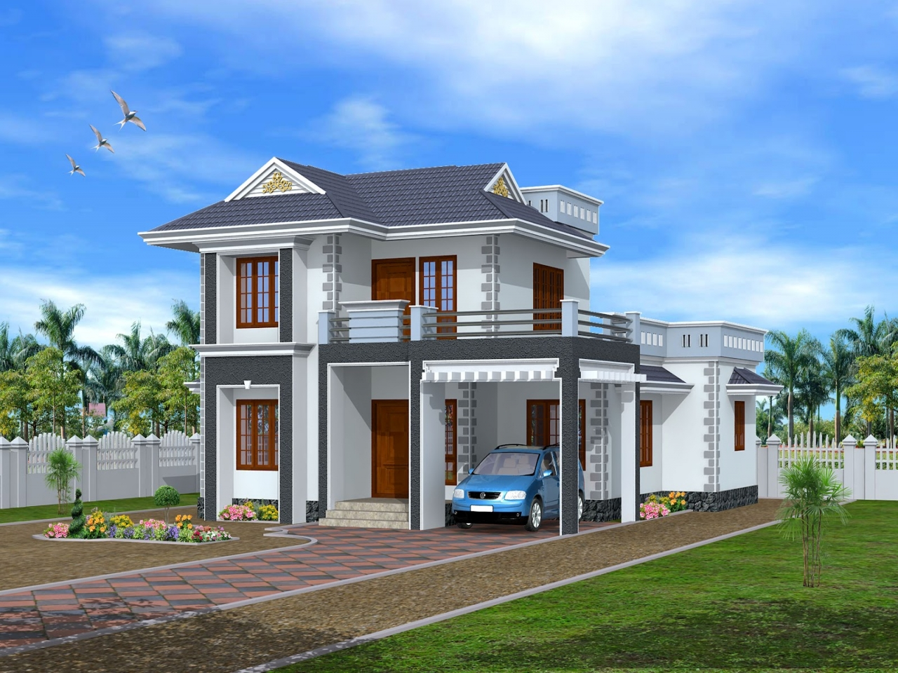 Kerala architecture 1st floor design kerala home design for Architecture design kerala house