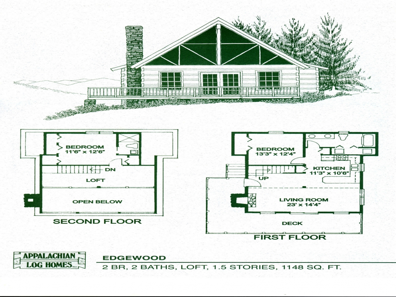 Log home floor plans log cabin floor plans log home for Log cabin ranch floor plans
