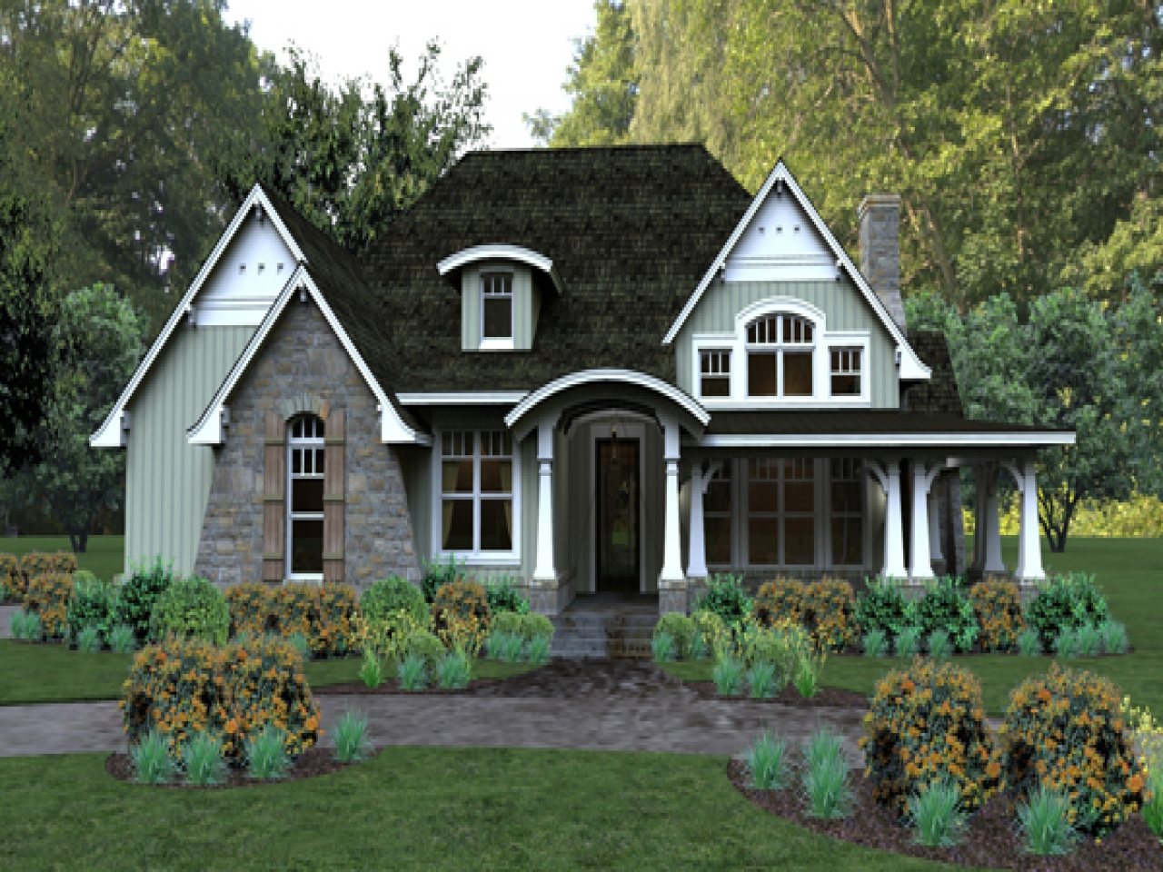 Lowcountry southern living house plans pleasant cove house for Southern country home plans