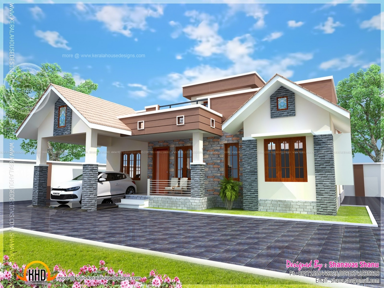 Small Bungalow Front Elevation : Small house elevation design cottage front