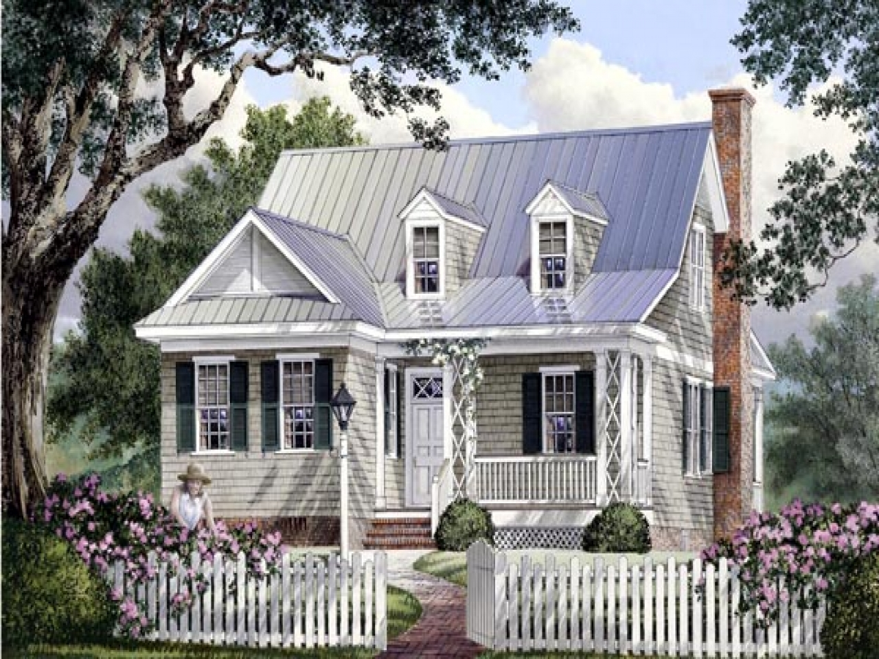 Southern cottage floor plans small southern cottage style for Southern cottage plans