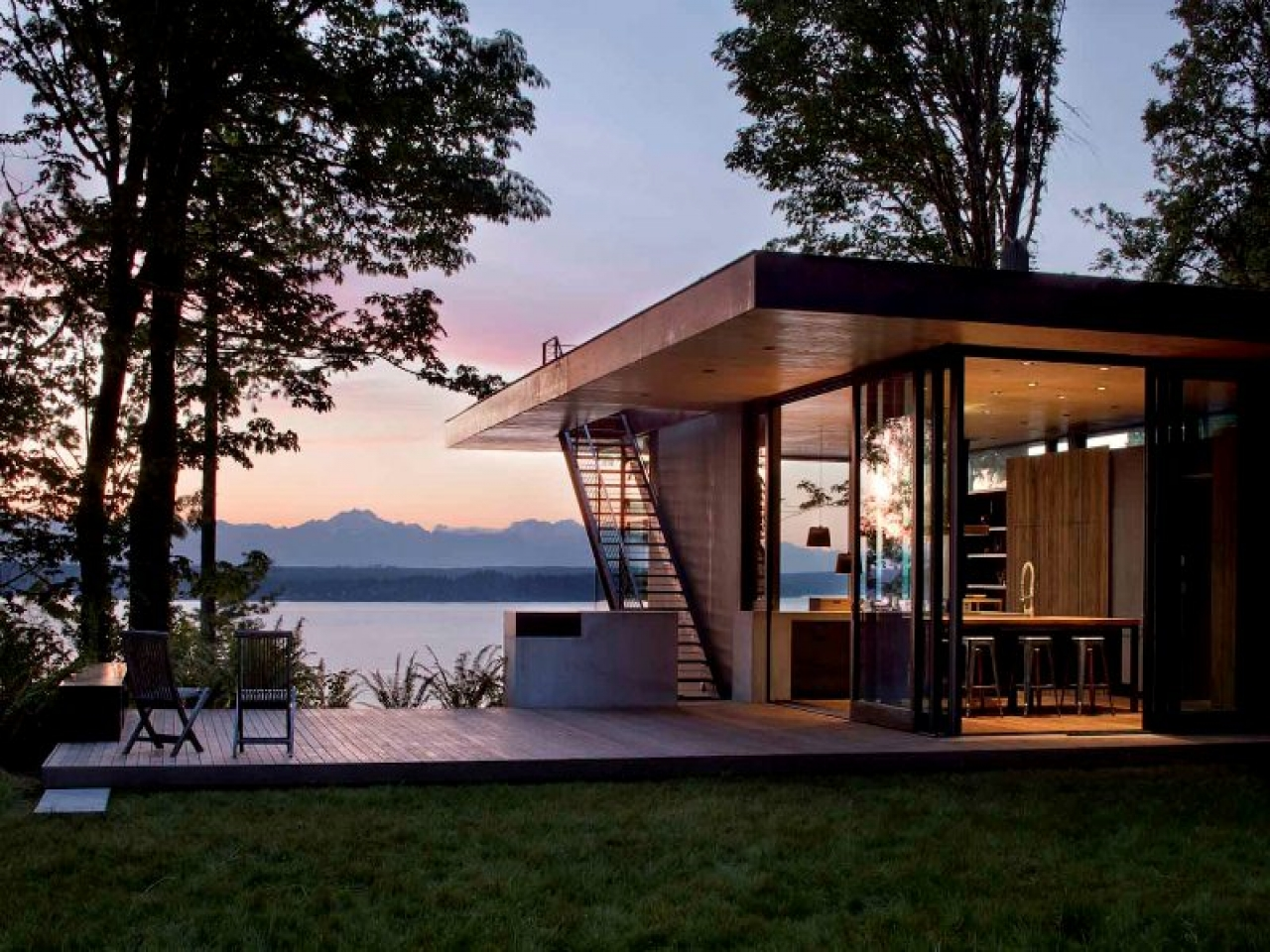 Lake Home Design Ideas: Contemporary Lake House Plans Modern Lake House Design