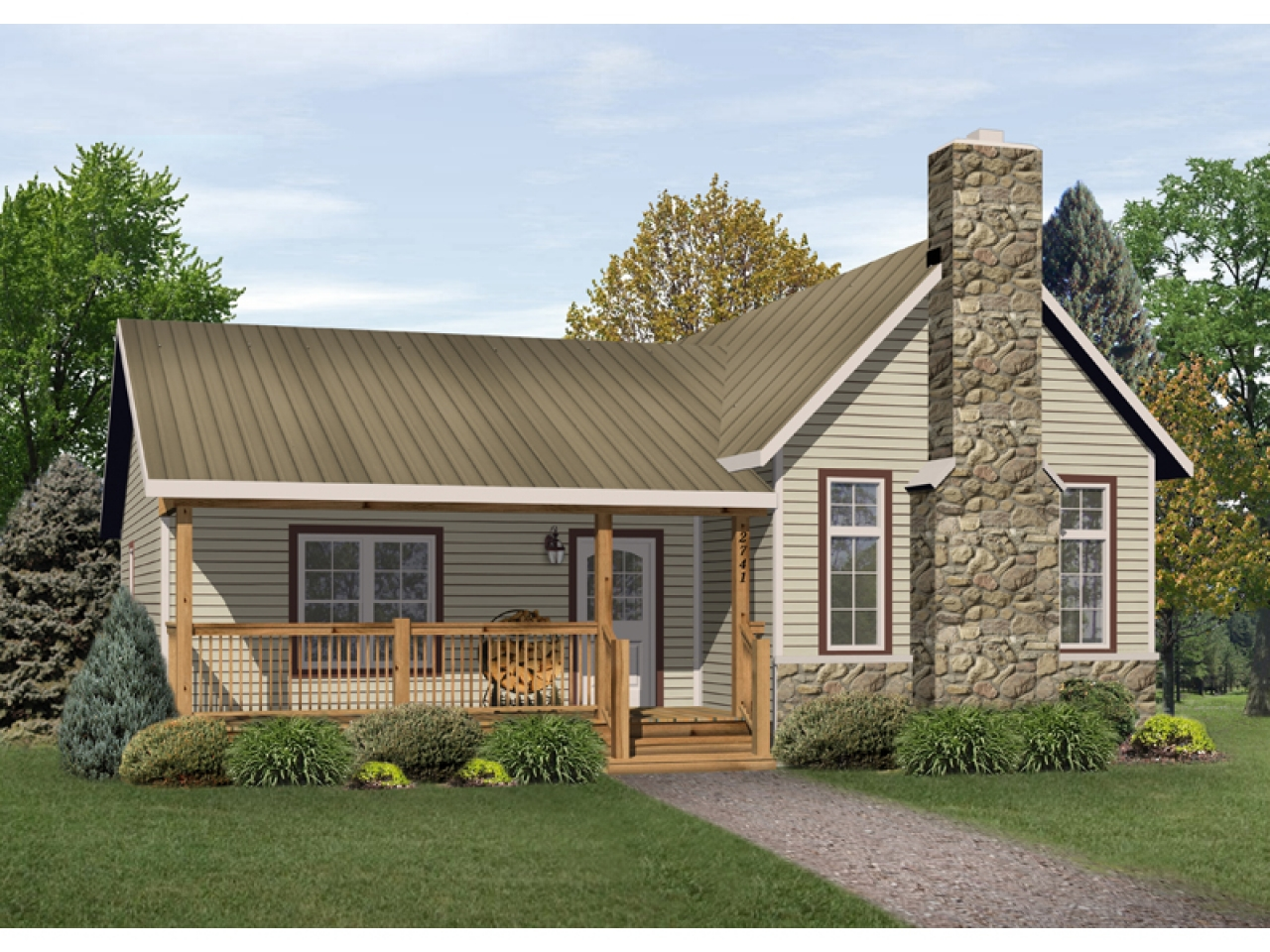 Country house plans ranch house plans and vacation house for Small country cabin plans