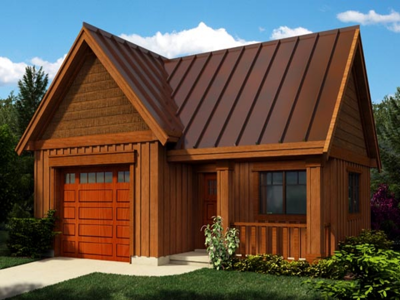 Craftsman style detached garage plans detached garage for Bungalow plans with garage