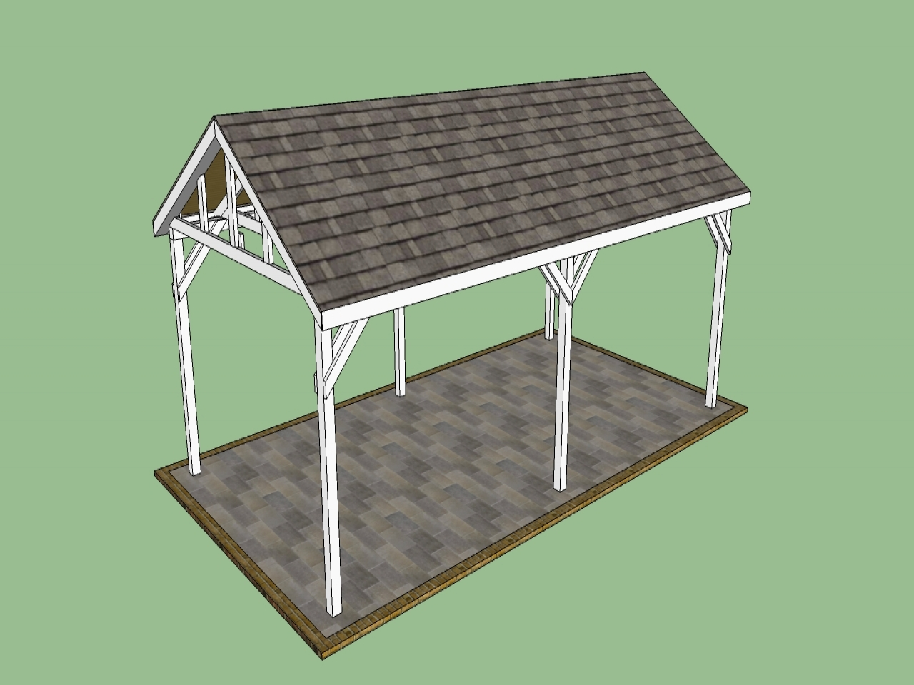 Do It Yourself Building Plans: Free Wood Carport Plans 2 Car Carport Plans Free, Do It