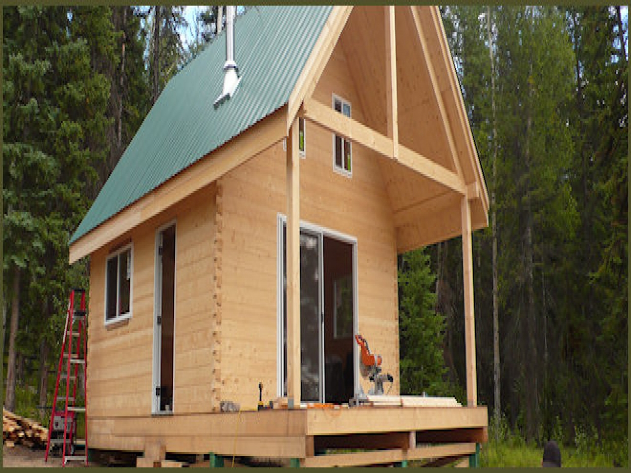 Small Cabin Plans Small Timber Frame Cabin Kits, Hunting