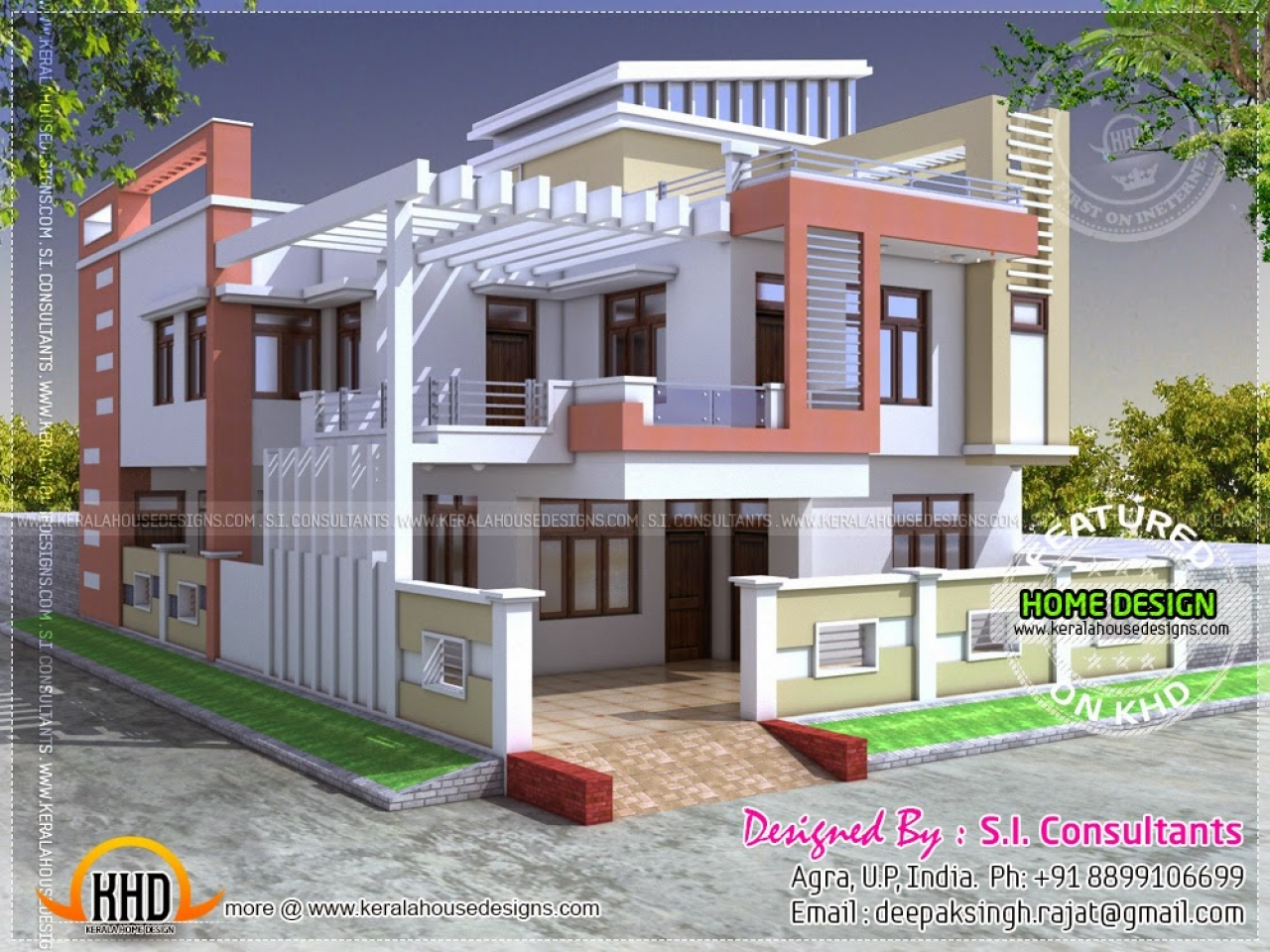 Small Modern House Designs In India: Small Modern House Modern Indian Home Design, Modern House