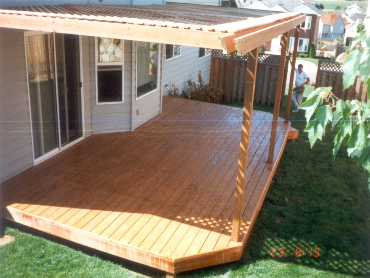 Wood Flat Roof Decks Flat Wood Deck Designs Ideas, picture ...