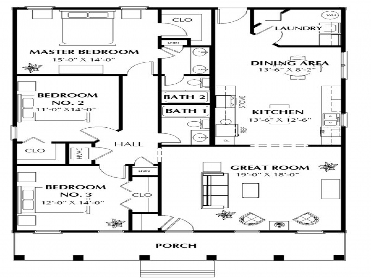1500 Square Feet House Plans House Plans 1500 Square Feet