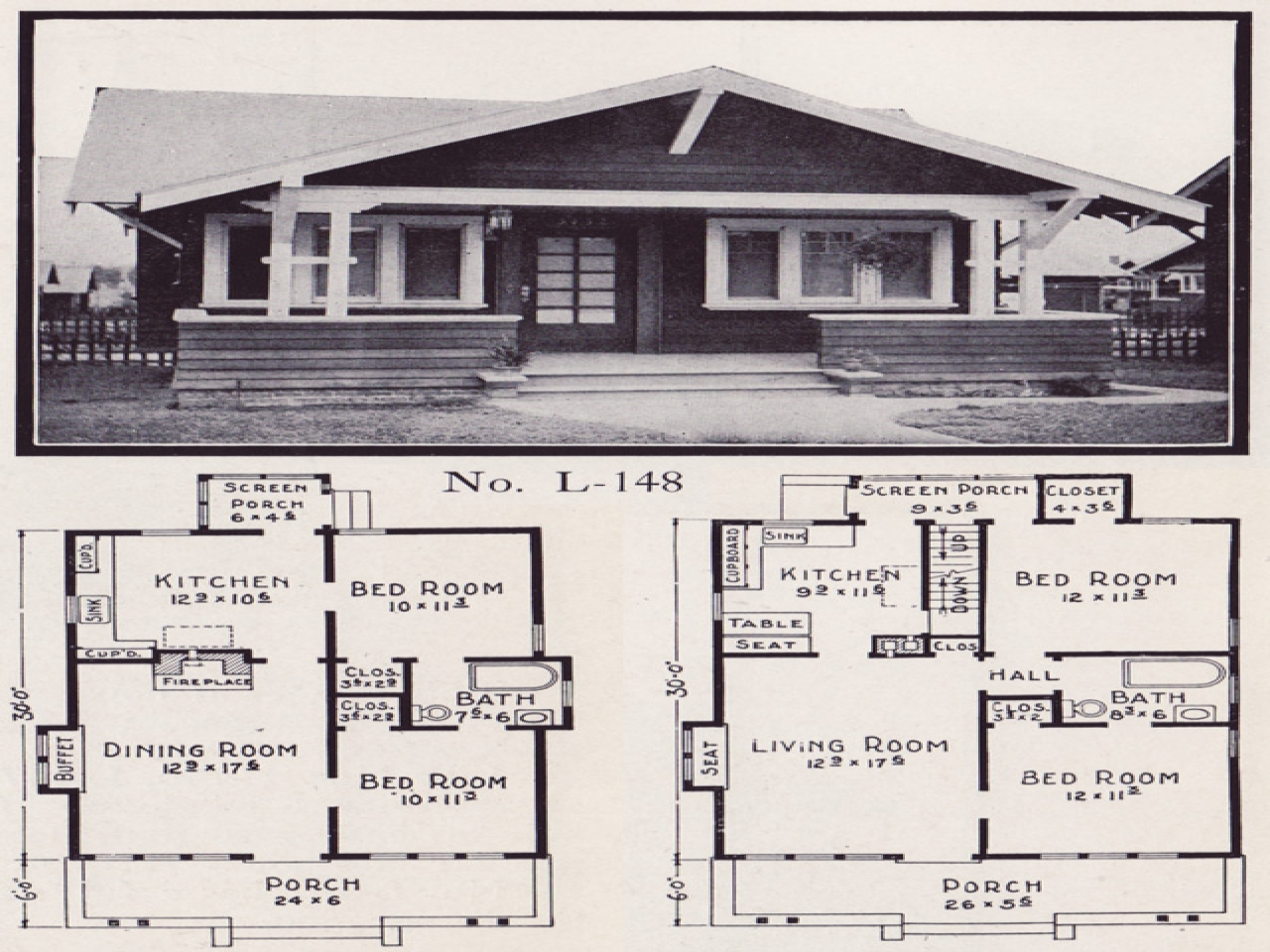1910 craftsman bungalow kitchens 1920s craftsman bungalow for House plans craftsman style bungalow