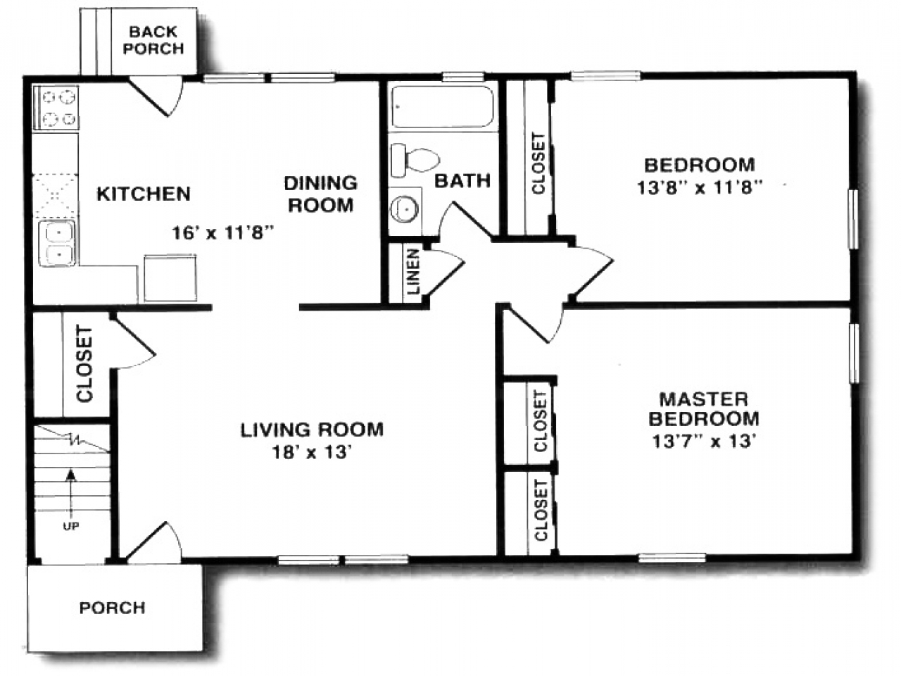 850 sq foot apartment floor plans 300 square foot for Square home plans