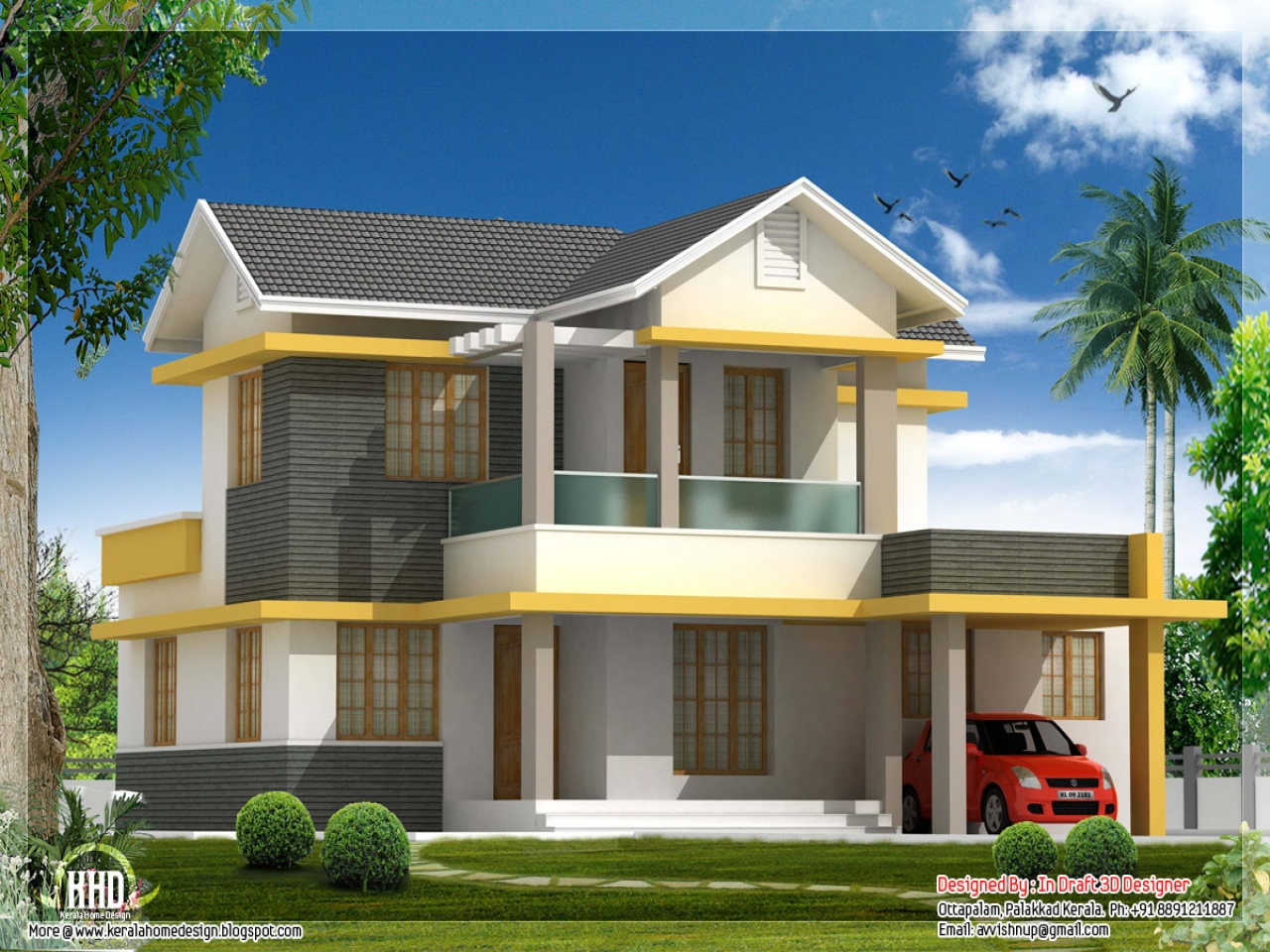Beautiful house designs kerala style beautiful house for Attractive house designs