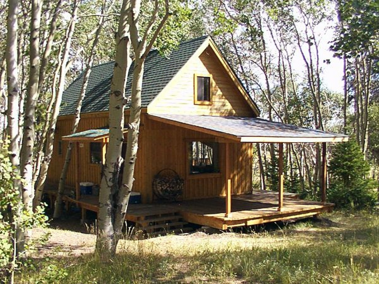 Build small cabin in woods small lake cabins to build for Small cabin kits with loft