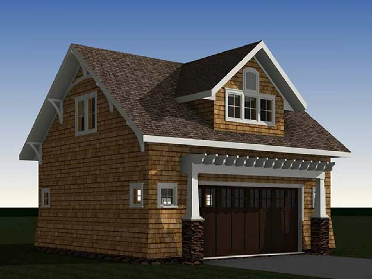 Bungalow garage with apartment garage apartment interior for Bungalow house plans with basement and garage