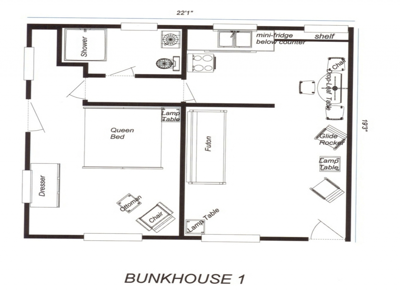 Bunkhouse Floor Plans Rustic Cowboy Bunkhouse Plans