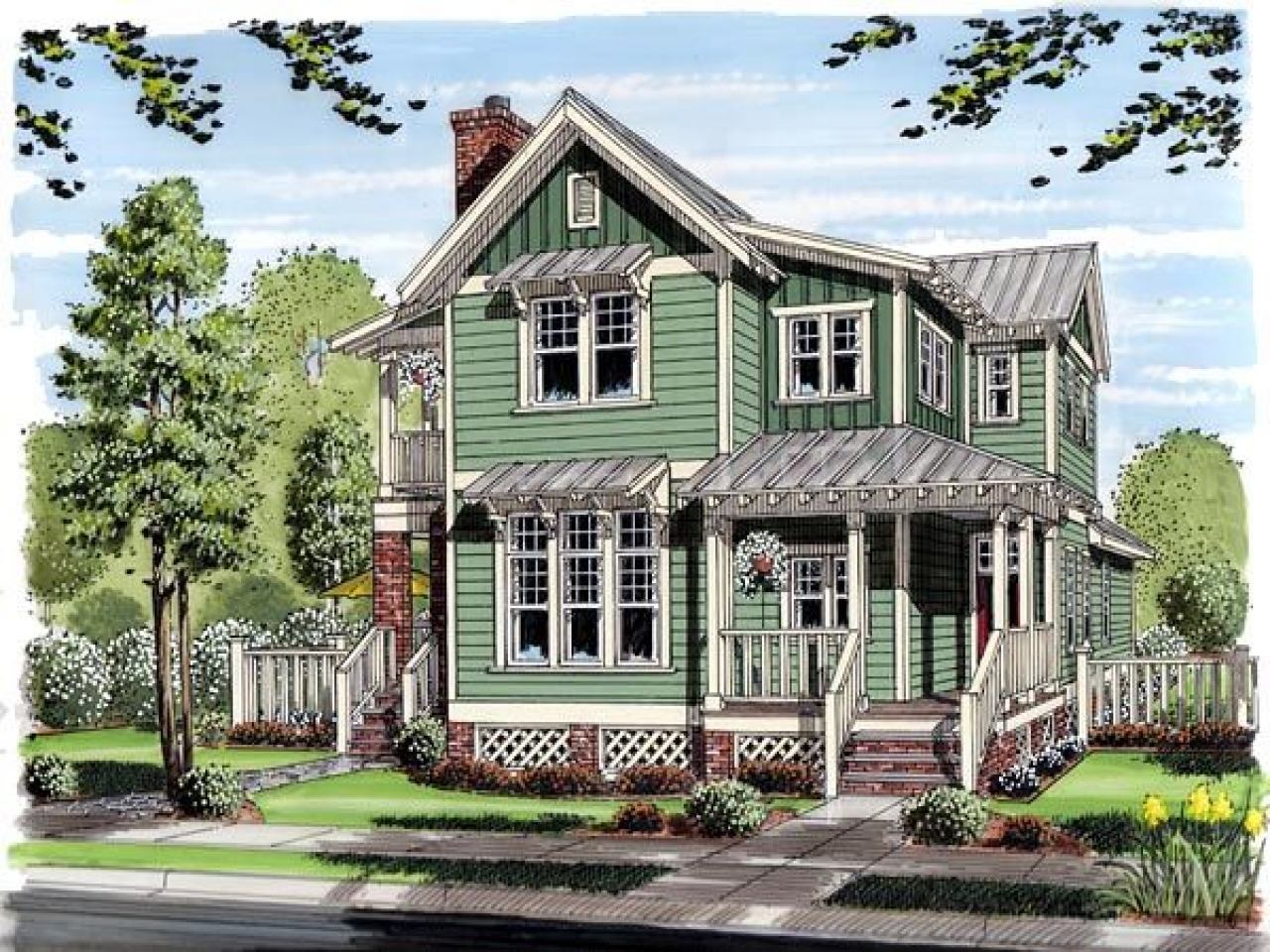 Farmhouse Cottage House Plans Farmhouse Bungalow House