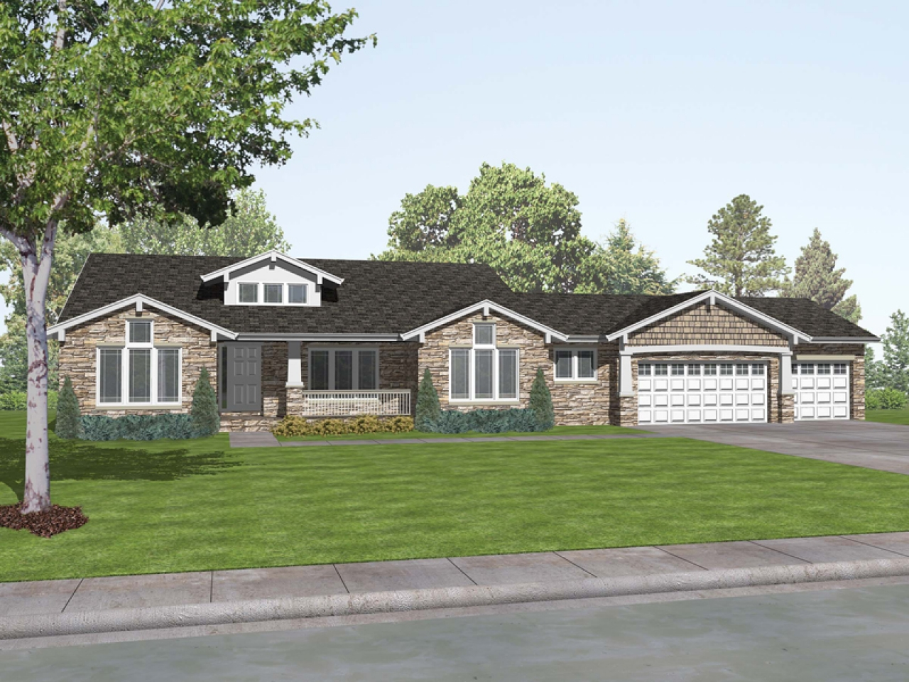 Romaine place ranch home plan 046d 0009 house plans and for Home plans and more