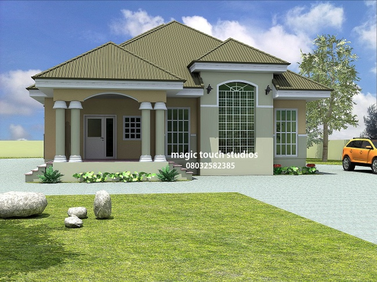 5 Bedroom Bungalow House Plan In Nigeria 5 Bedroom Floor
