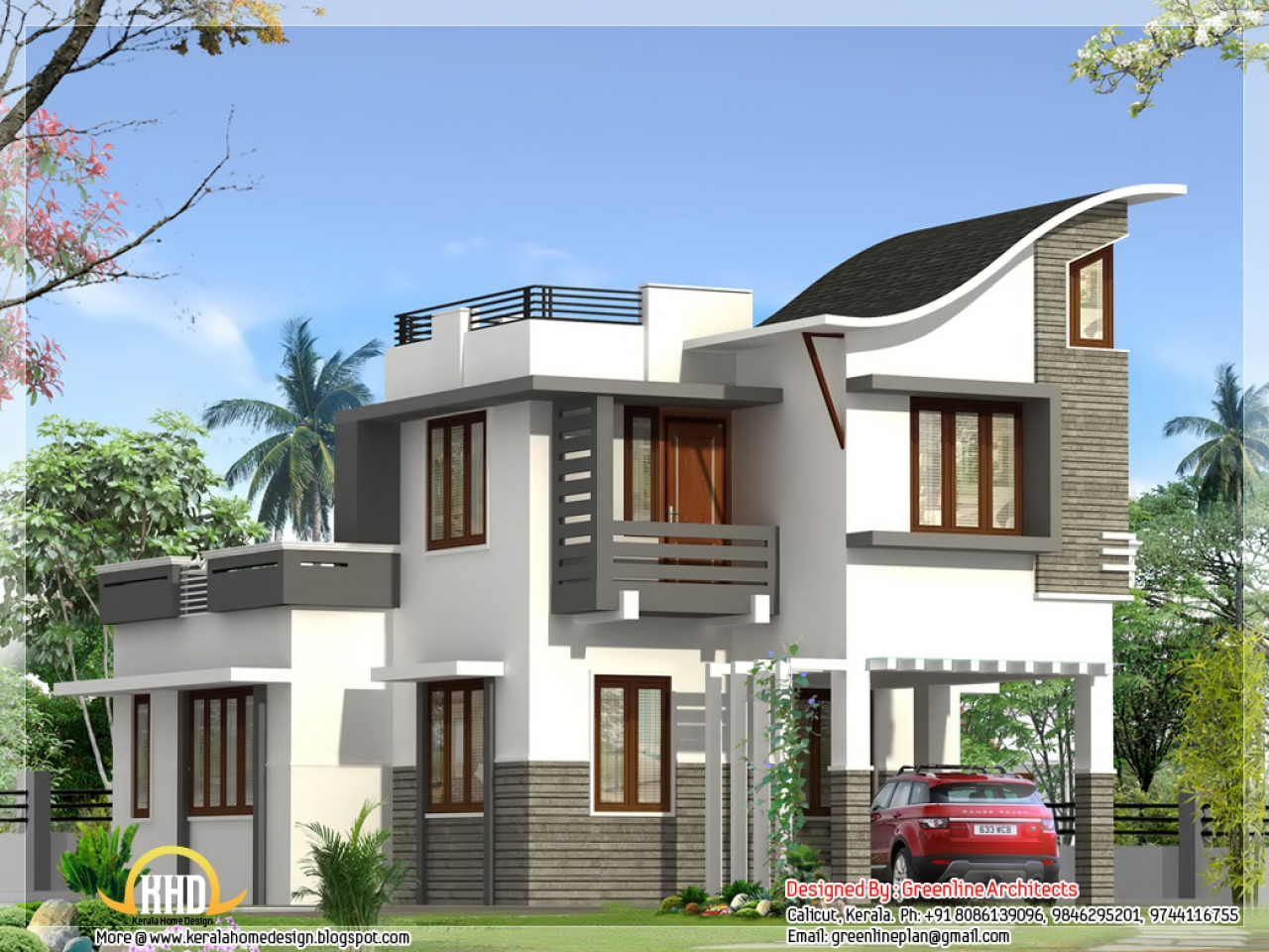 Beautiful house designs kerala style new kerala houses for Beautiful house ideas