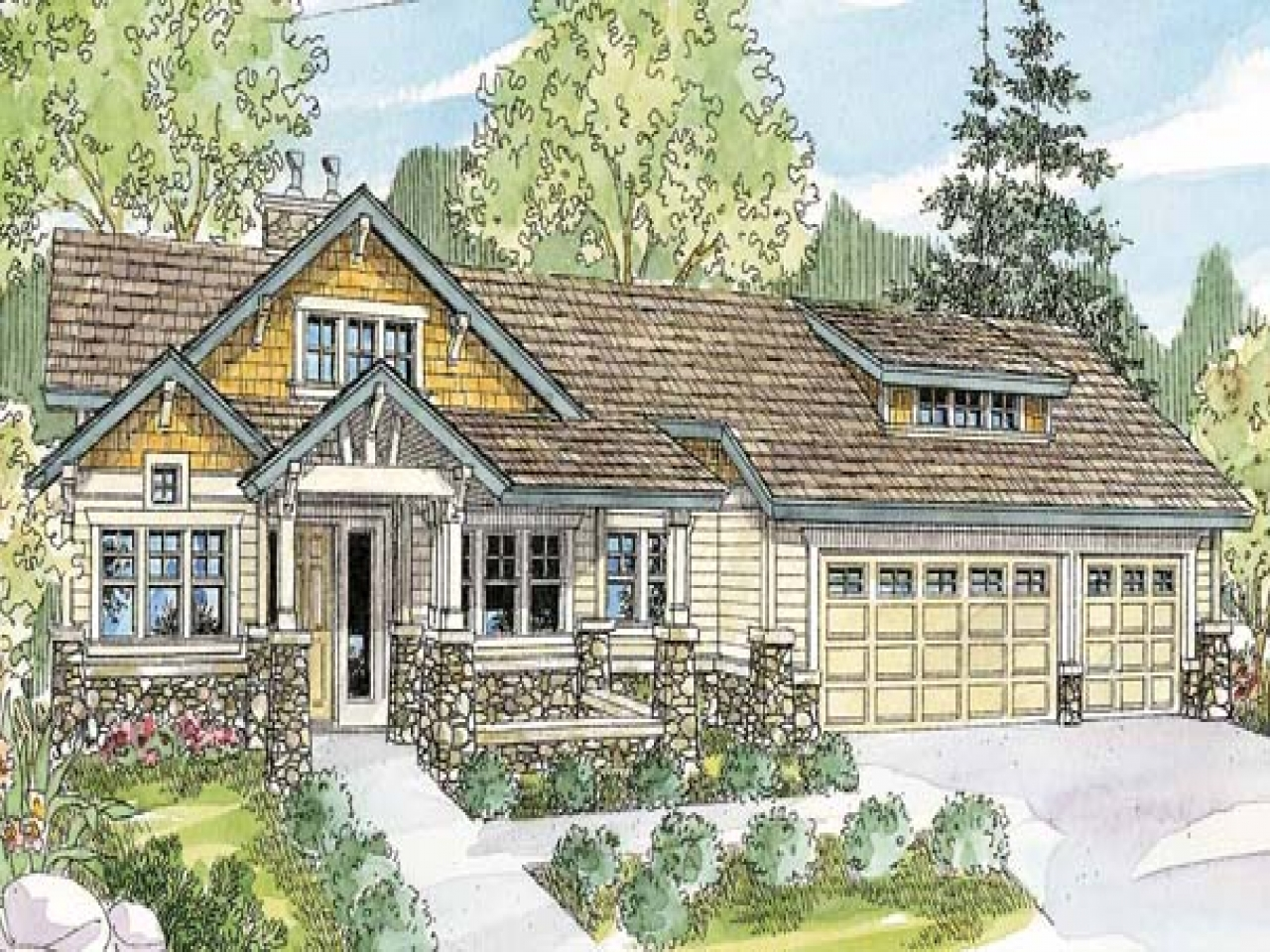 Bungalow house plans with basement suite bungalow house for Ranch style house plans with basement and wrap around porch