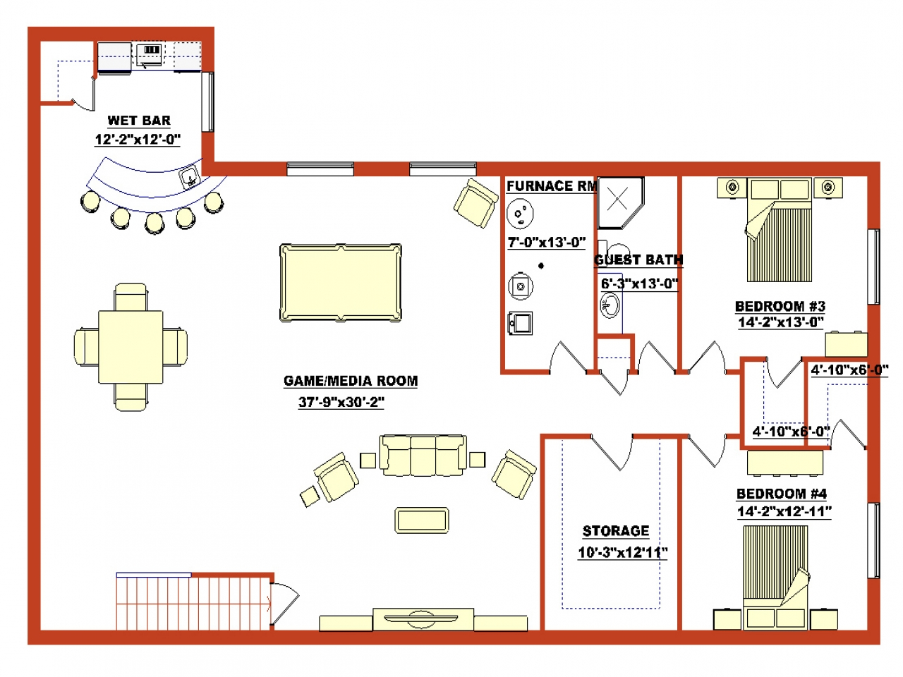 Finished Walkout Basement House Plans Finished Walk Out