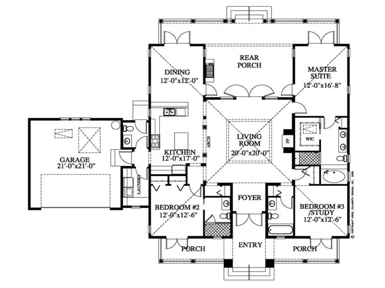 Plantation style house floor plan southern style homes for Southern style home floor plans