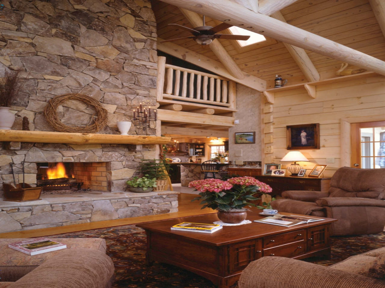 Small Cabin Plans With Loft Fireplaces