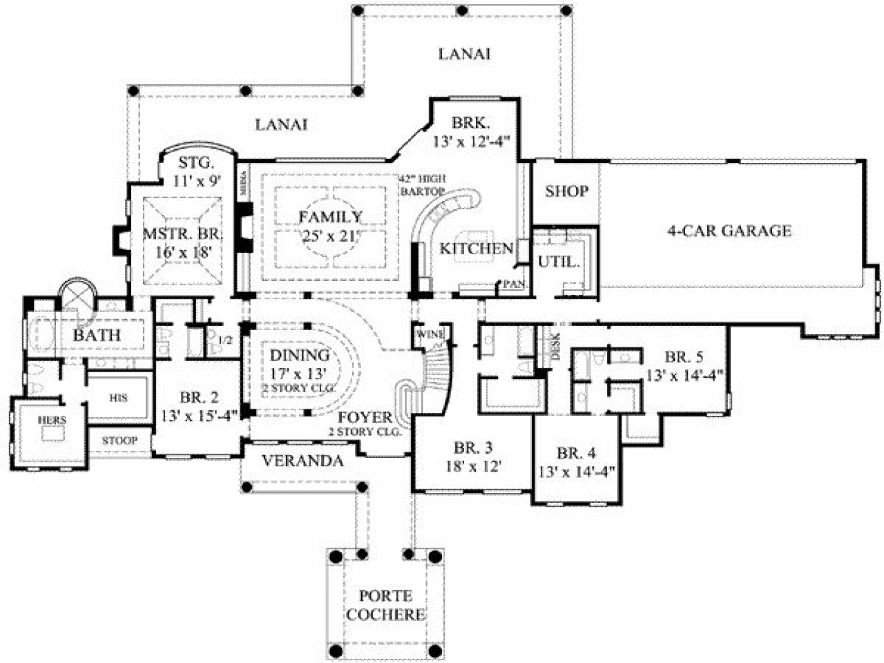Simple 5 Bedroom House Plans 7 Bedroom House Plans, 7 ...
