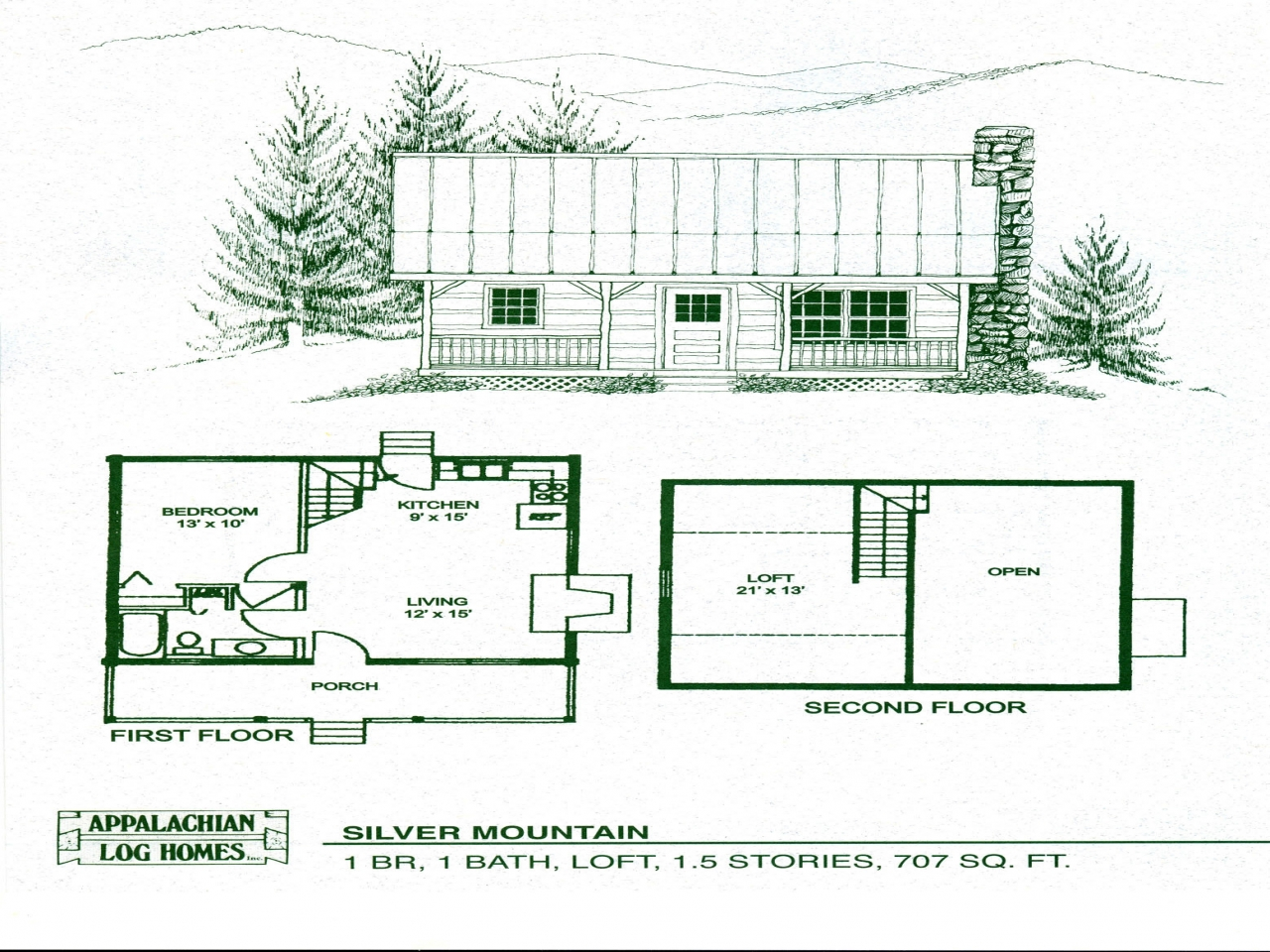 Small cabin floor plans with loft small log cabin homes for Weekend cabin floor plans