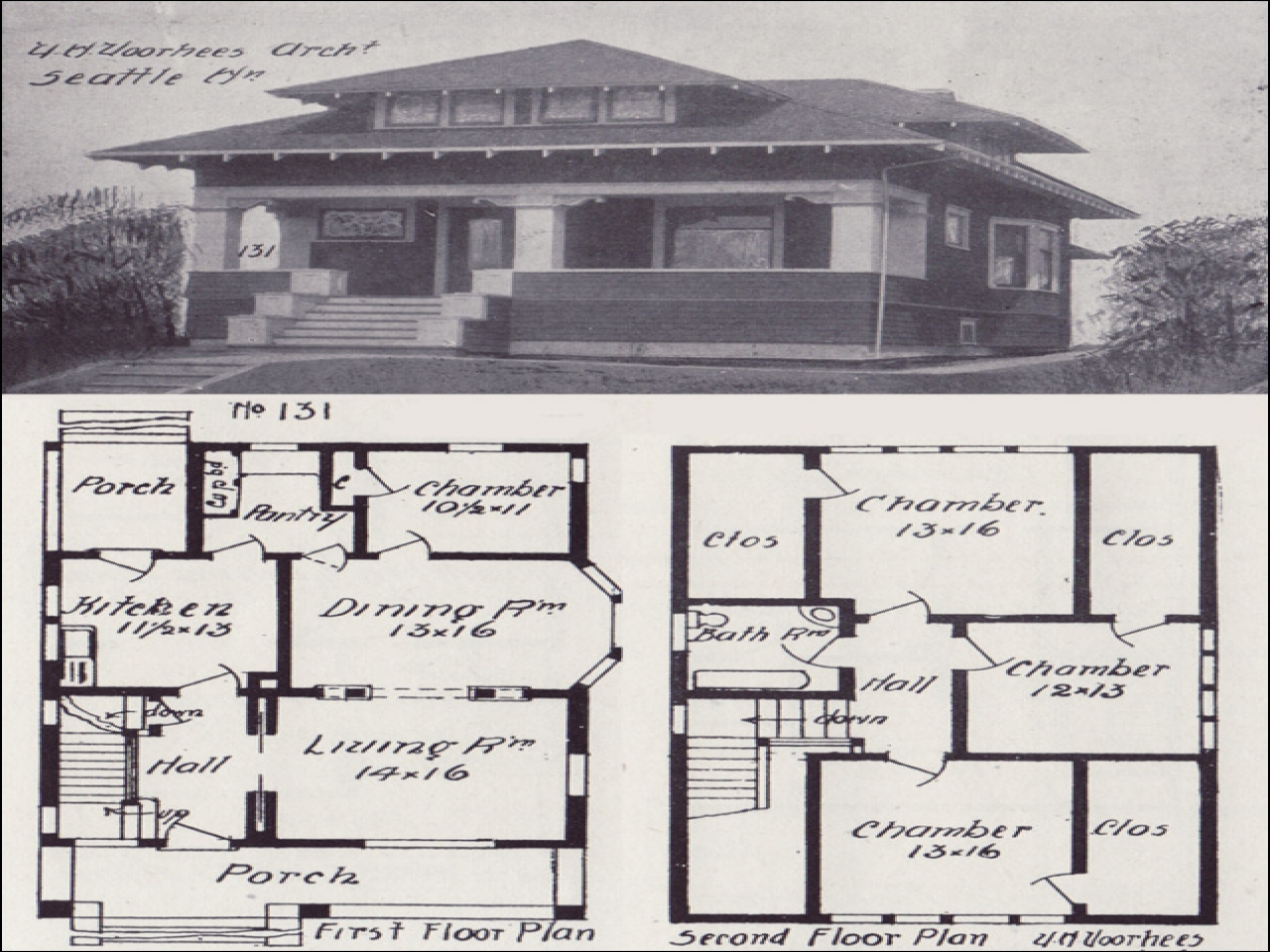 Vintage Craftsman Bungalow House Plans California