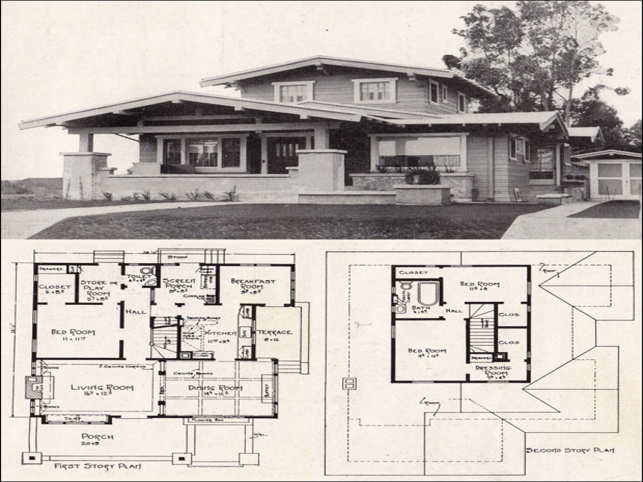 Airplane bungalow house plans historic bungalow house plan for Airplane bungalow house plans